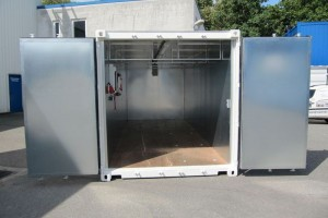 20' Werkstattcontainer - ISO-Norm Seecontainer - Stahlcontainer mit CSC-Zulassung - isoliert