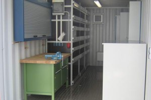 20' Werkstattcontainer - ISO-Norm Seecontainer - Stahlcontainer - CSC-Zulassung - Innenansicht