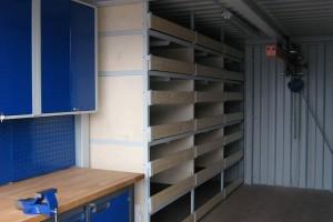 20 39 werkstattcontainer mit kranbahn. Black Bedroom Furniture Sets. Home Design Ideas
