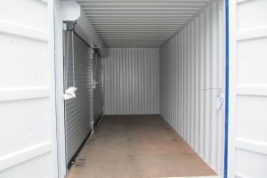 20' Materialcontainer - Lagercontainer mit Rolltoren - Stahlcontainer - conro.container GmbH