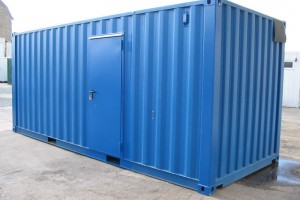 20' Werkstattcontainer - Lagercontainer - ISO-Norm Seecontainer - Stahlcontainer - Außentür