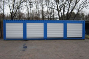 40' Material-/ Lagercontainer mit Rolltoren