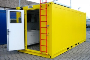 20' Schwarz-/Weiß-Container - Washing-Unit