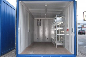 20' Regal Lager-/ Werkstattcontainer_Seecontainer_Stahlcontainer