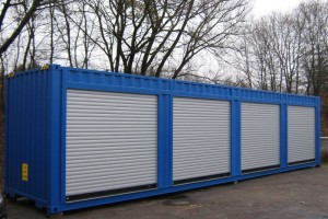 40' Materialcontainer - Lagercontainer mit Rolltoren - Stahlcontainer - conro.container GmbH